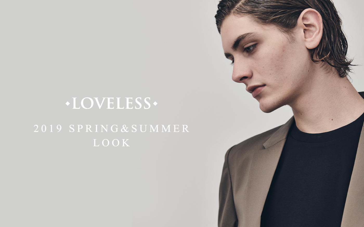 LOVELESS 2019 SPRING&SUMMER LOOK MEN