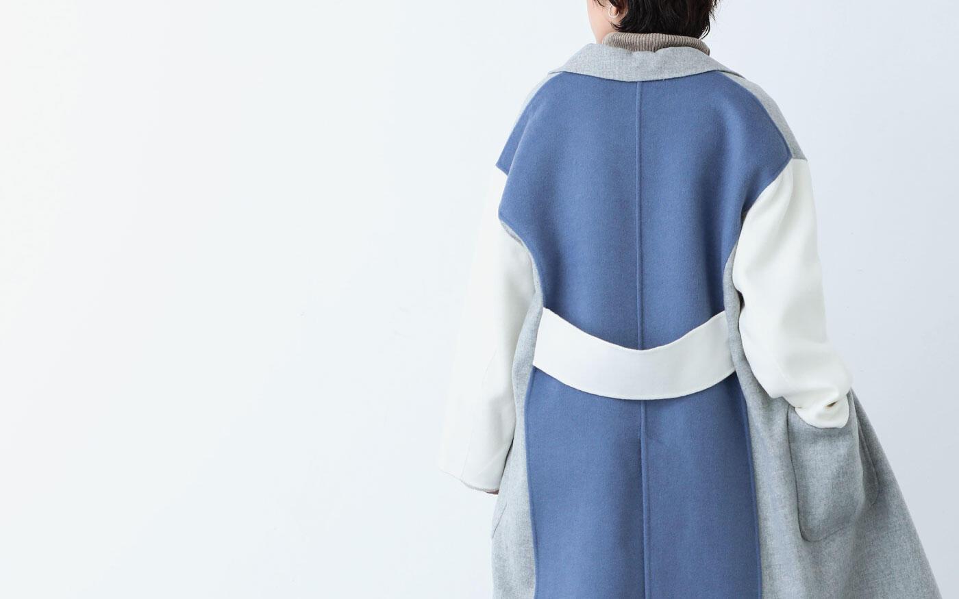 COAT,KNIT  -ニュアンスカラーと素材で柔らかさを纏う-